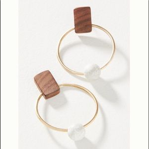 Anthropologie Asha Hooped Post Earrings